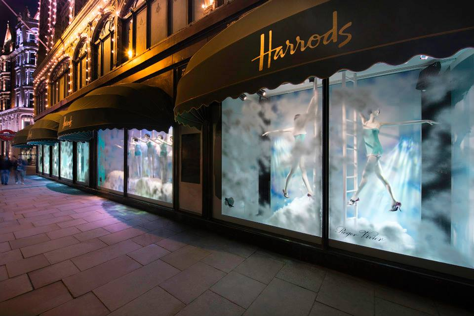 stunning window displays at harrods shoe heaven makes us want to love window shopping again. Black Bedroom Furniture Sets. Home Design Ideas