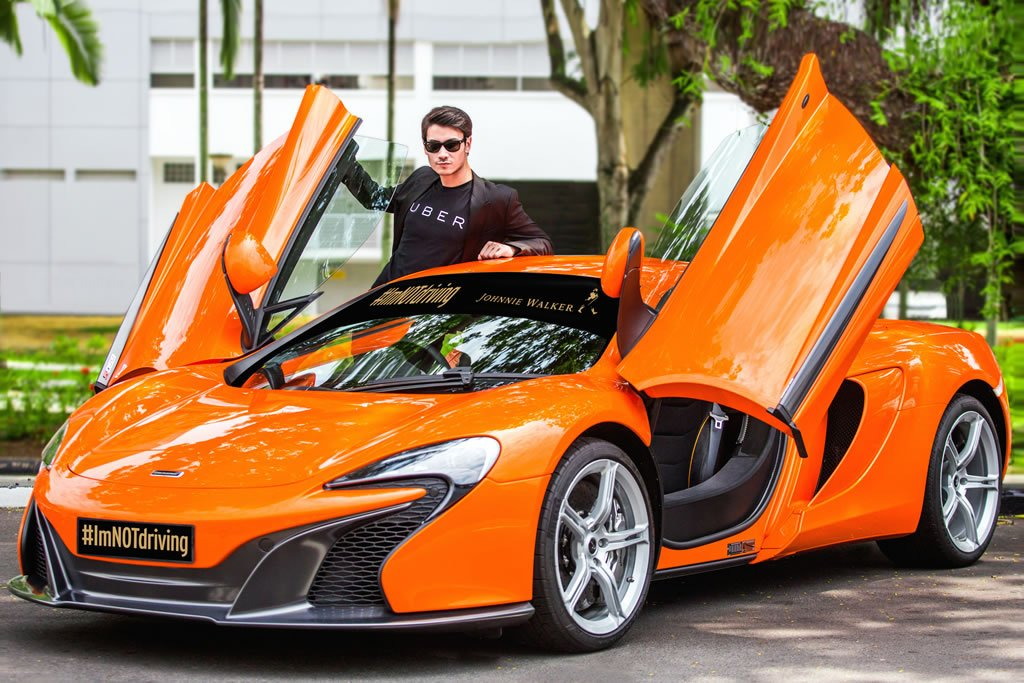 uber partners with johnnie walker to give away free rides of mclaren