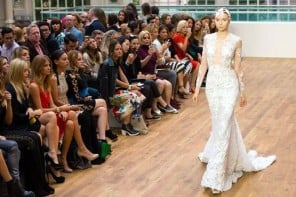 Mermaid-inspired £4 million diamond studded wedding dress by Julien Macdonald woos Londoners