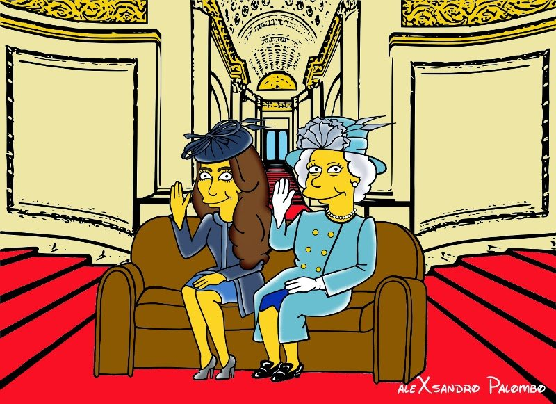 Kate Middleton as a Simpsons character in every outfit she has ever worn