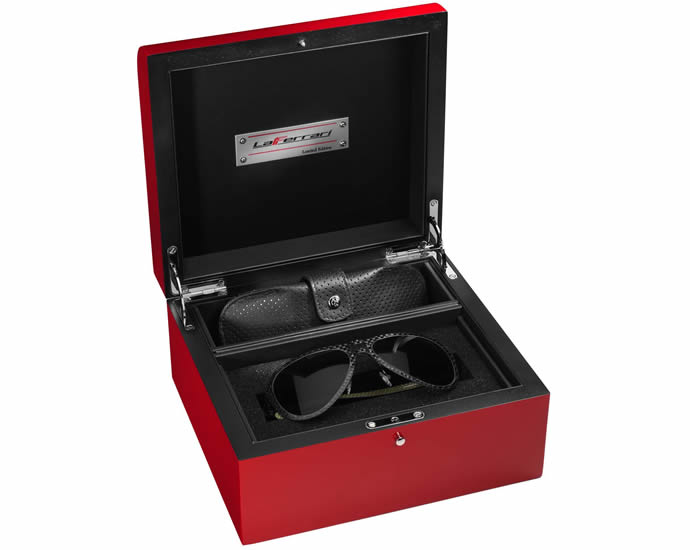 Clad in carbon fiber the exclusive LaFerrari sunglasses will set you back $2236 : Luxurylaunches