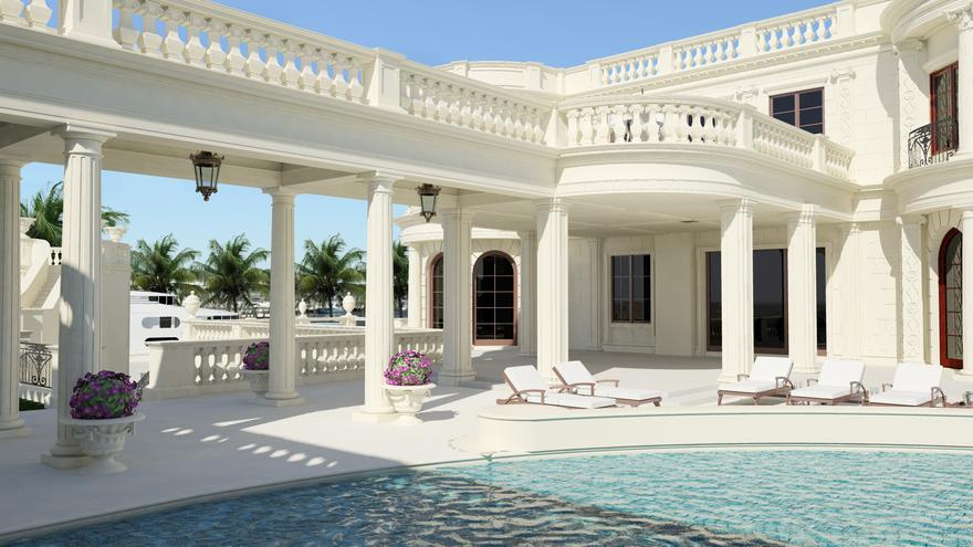 Inside america s most expensive home the 139 million gold plated mansion in florida for Maison luxe usa