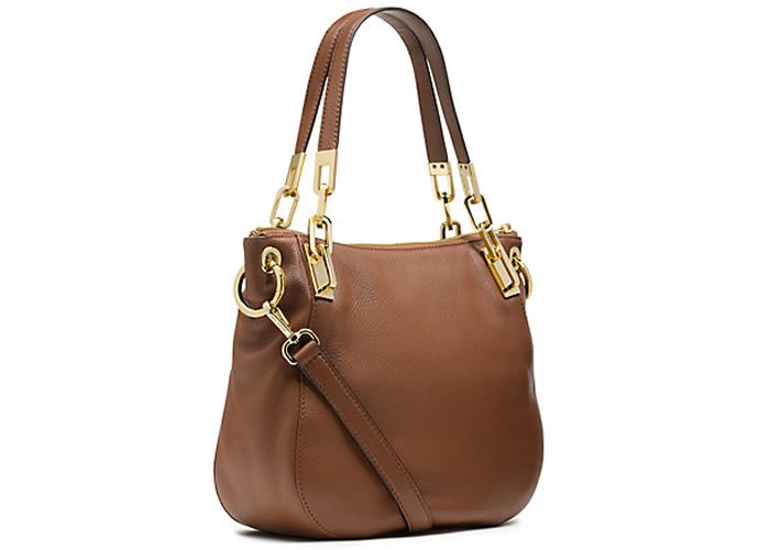 Brooke Leather Medium Shoulder Bag by Michael Kors comes packed ...