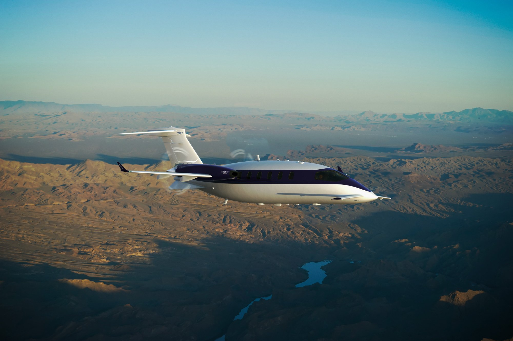 Piaggio S Avanti Evo Twin Turbo Prop Aircraft Is Greener