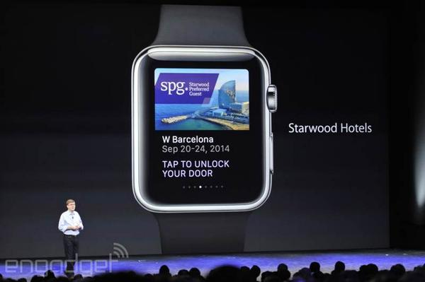 starwood hotels app will let you unlock your hotel room door by waving your iwatch in front of it. Black Bedroom Furniture Sets. Home Design Ideas