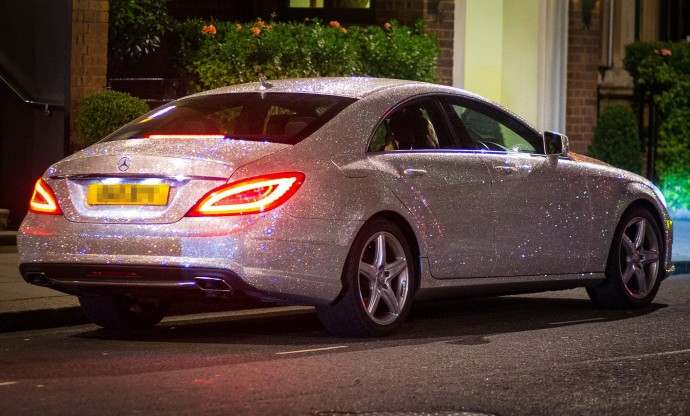 Studded with a million Swarovski crystals this Mercedes Benz is causing traffic jams in London : Luxurylaunches