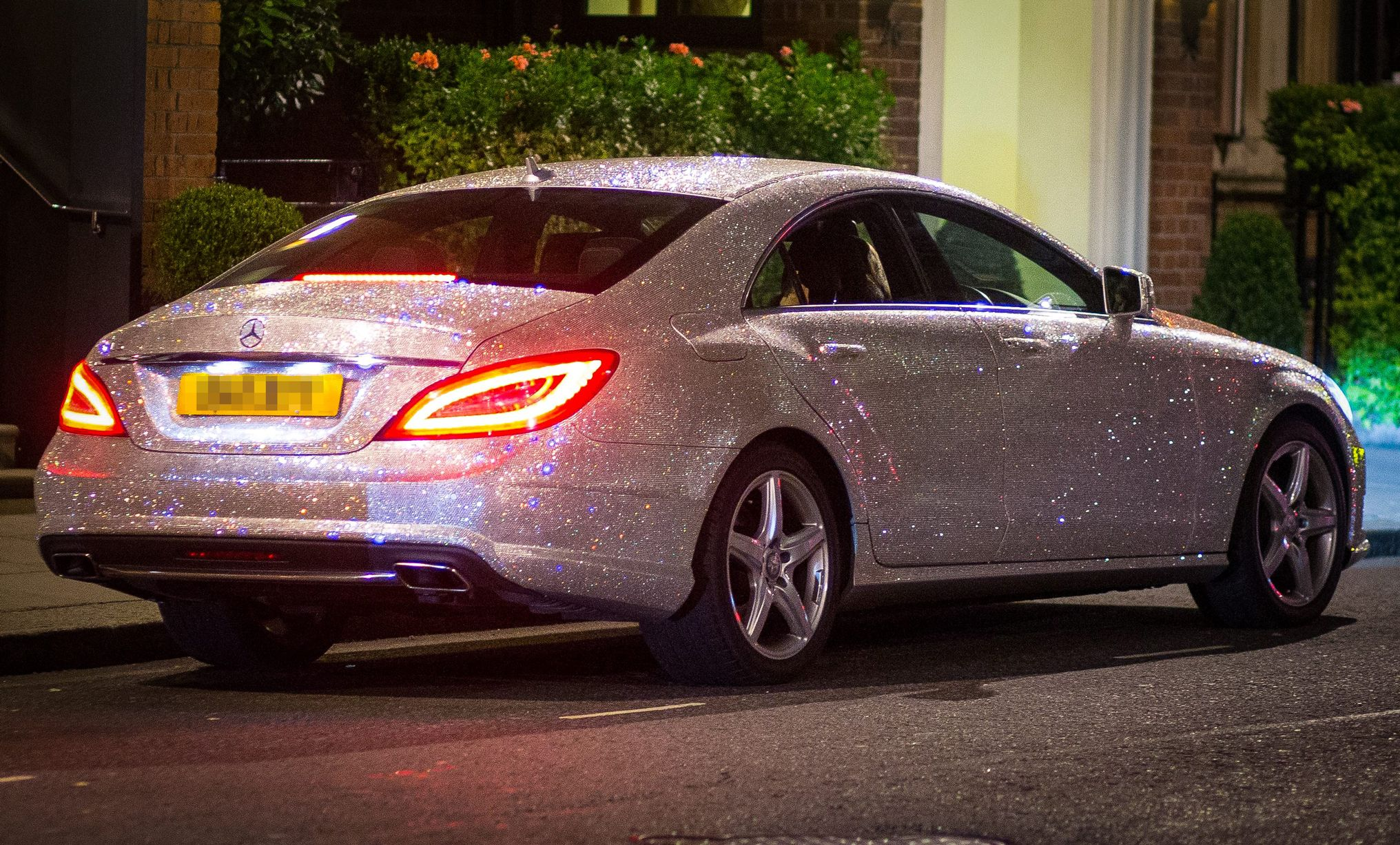 Studded With A Million Swarovski Crystals This Mercedes