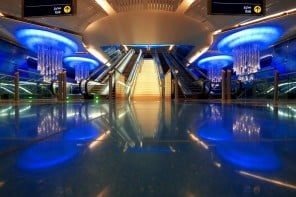 This Dubai Metro station would put a hotel lobby to shame