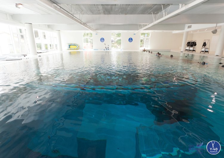 This is not your average hotel's backyard swimming pool. Surpassing  Brussels Nemo 33 as the world's deepest pool, the Y-40 Deep Joy located at  the Hotel ... - This Italian Hotel Has The Worlds Deepest Pool Which Has A