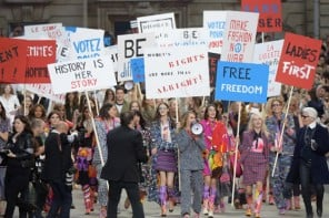 Trust Karl Lagerfeld to throw a Chanel feminist protest at Paris Fashion Week