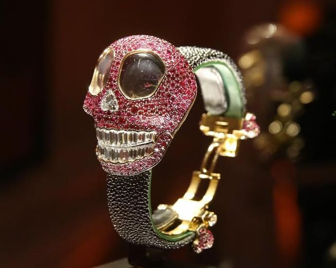 De Grisogono's Crazy Skull watch is the most opulent Halloween accessory you can buy : Luxurylaunches
