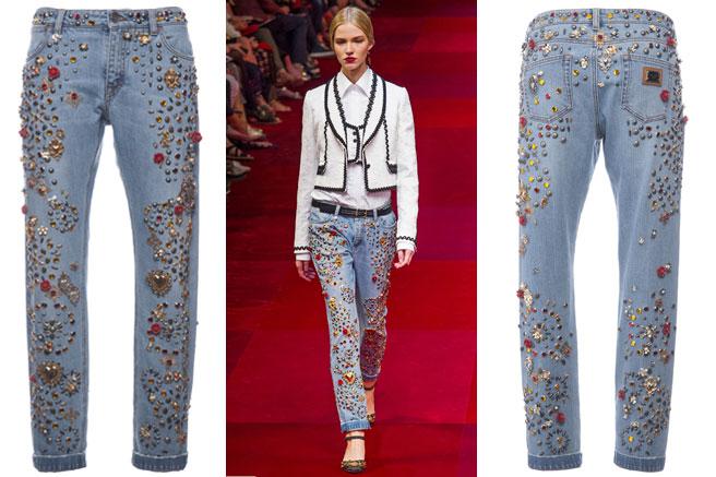 Fancy A 12 500 Swarovski Encrusted Dolce Amp Gabbana Jeans
