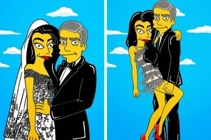 "George Clooney and Amal Alamuddin's wedding gets ""Simpsonized"""