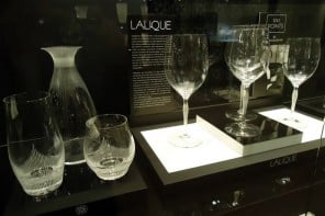 French crystal glasses and decanter