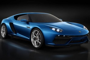 Lamborghini Asterion LPI 910-4 hybrid concept car makes a grand entrance at the Paris Motor Show