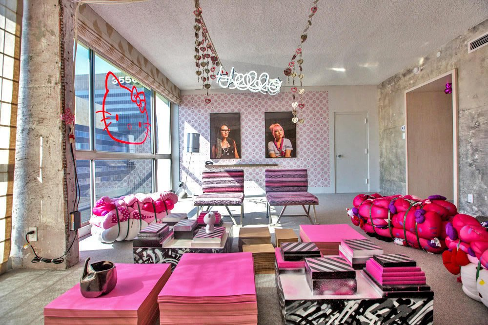 appealing hello kitty living room | The Line Hotel in LA reveals much anticipated Hello Kitty ...