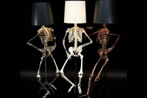 Light up your Halloween with these creepy-cool Philippe skeleton floor lamps by Zia Priven