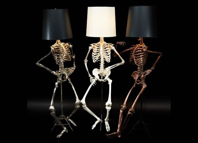 Light up your halloween with these creepy cool philippe skeleton light up your halloween with these creepy cool philippe skeleton floor lamps by zia priven mozeypictures Image collections