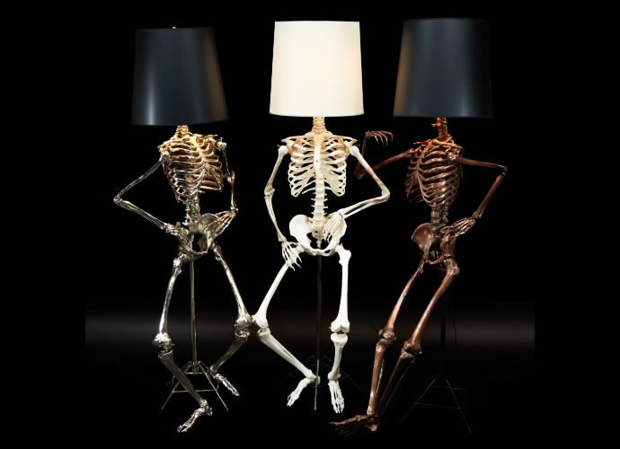 Light Up Your Halloween With These Creepy Cool Philippe Skeleton Floor Lamps  By Zia Priven