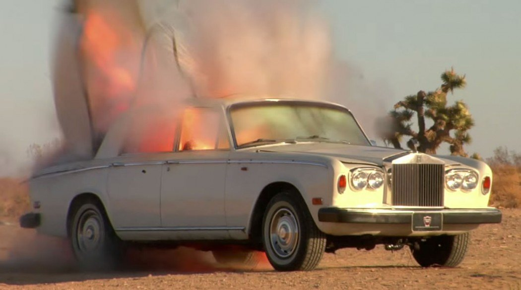 Watch A Rolls Royce Silver Shadow Exploding In The Slow