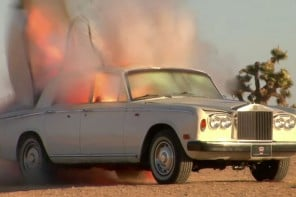 Watch a Rolls Royce Silver Shadow exploding in the slow motion ultra high definition video