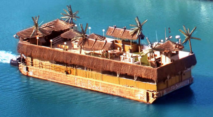 Charter The Tropical Tikki Beach Barge From Miami To West