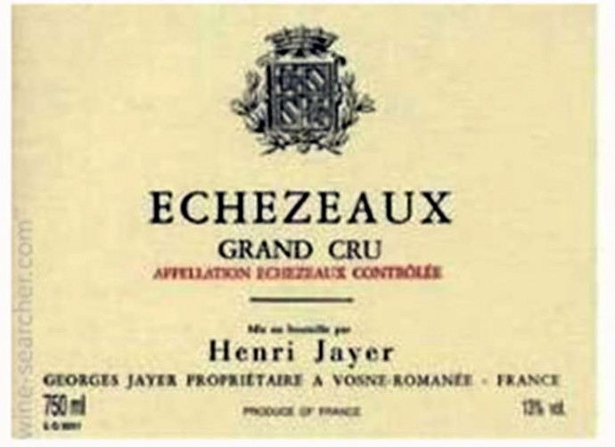 Henri Jayer Echezeaux Grand Cru Cote de Nuits