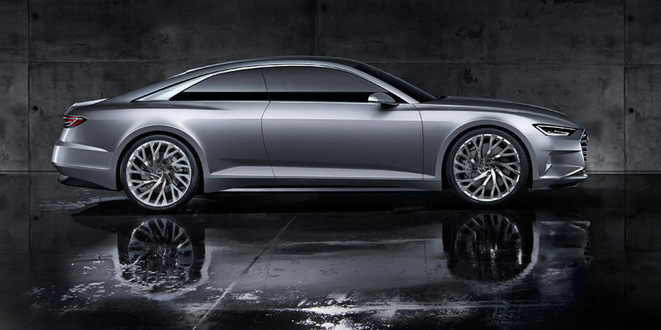 Audi Prologue Concept is a two-door flagship developed to rival the