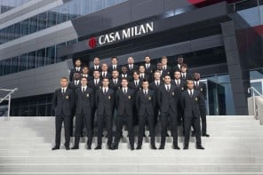 Dolce and Gabbana celebrate a decade long partnership with soccer club AC Milan