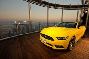 Watch a 2015 Mustang GT being assembled at the 112th floor of Burj Khalifa