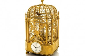 Uber-rare Singing Bird Cage Clock Automaton by Jaquet Droz sells for $305,000
