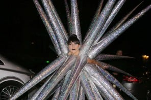 Lady Gaga strips down to bare necessities after walking around as a giant sea urchin
