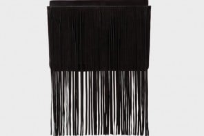 Stylish suede fringed clutch by Michael Kors