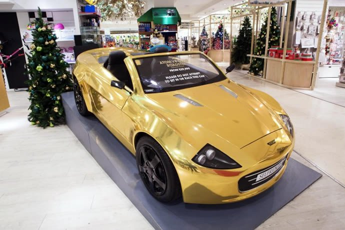 Selfridges Has A 163 30 000 Gold Plated Car For The Bling