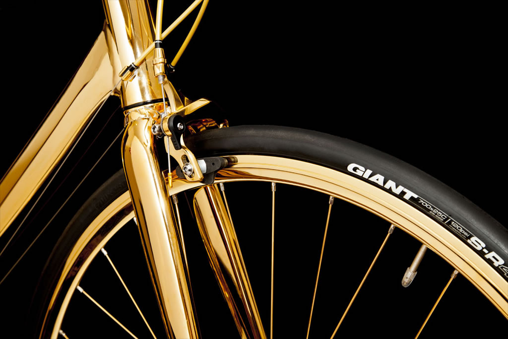 This 24 Karat Gold Plated Bicycle Costs An Astronomical