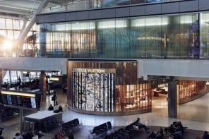 Louis Vuitton opens an eye catching boutique at Heathrow its first in an European airport