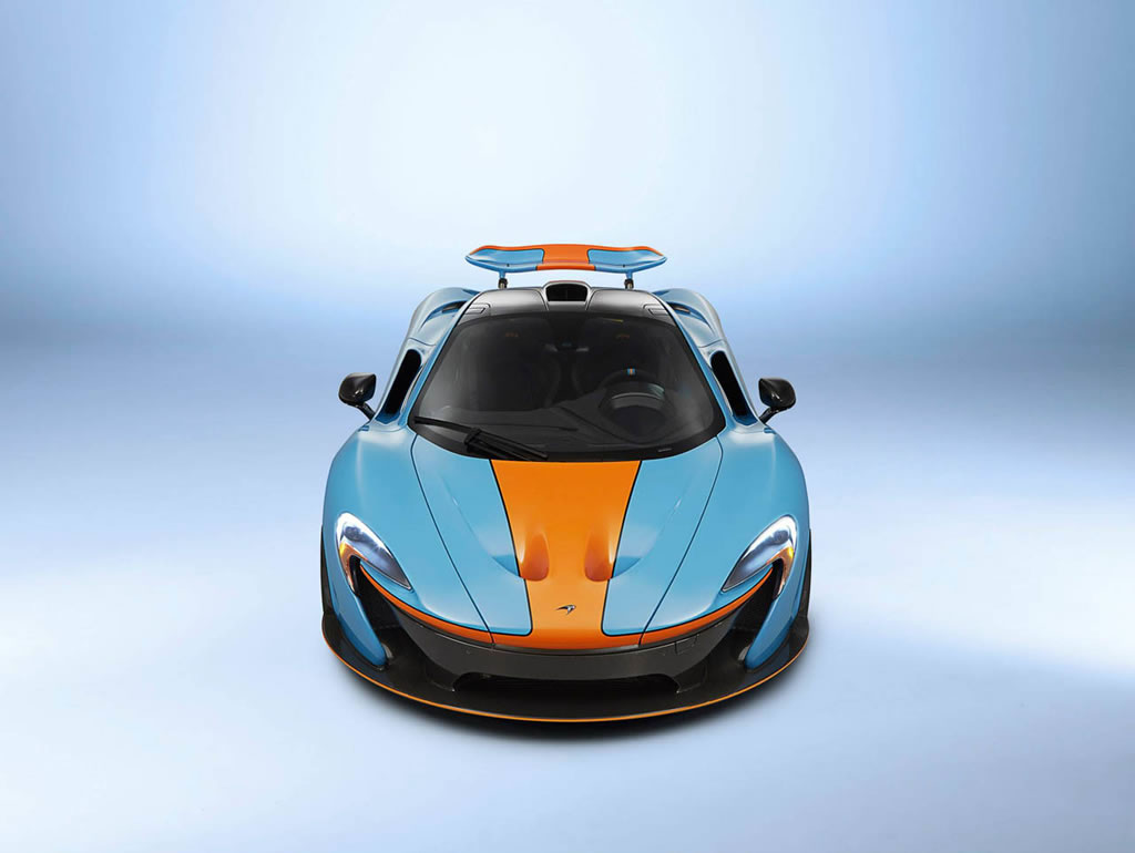Can Am Car >> One-off McLaren P1 with classic Gulf Oil racing livery is ...