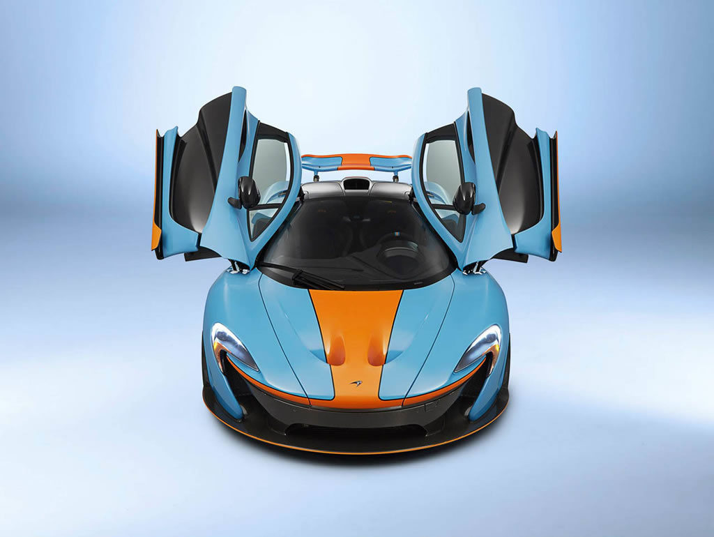 Mclaren P1 Cost >> One-off McLaren P1 with classic Gulf Oil racing livery is ...