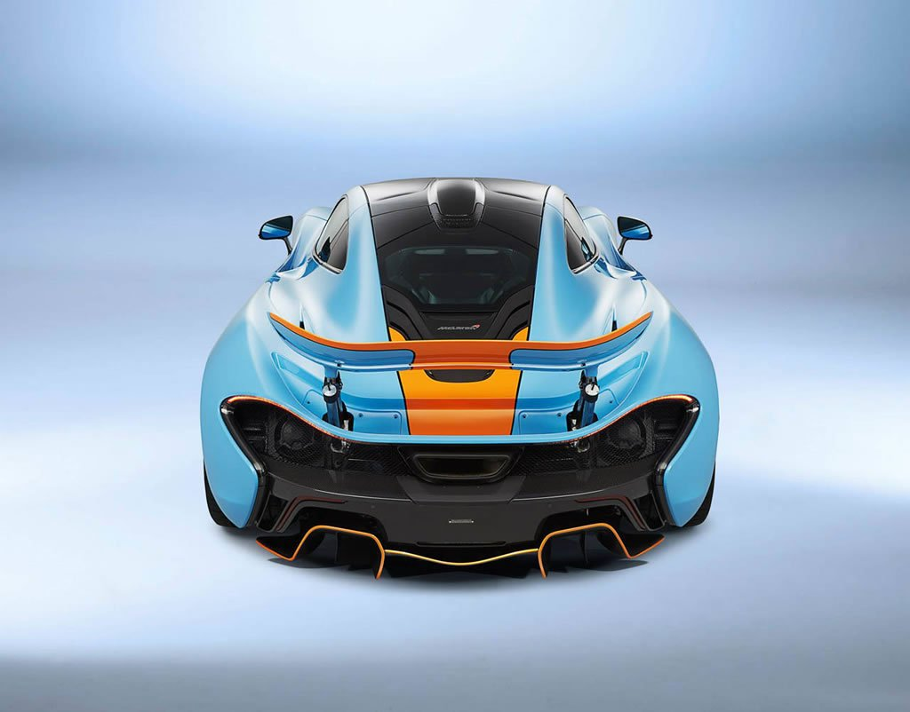 Mclaren Beverly Hills >> One-off McLaren P1 with classic Gulf Oil racing livery is retrolicious : Luxurylaunches