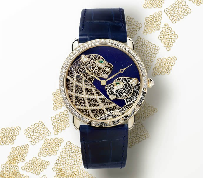 Ronde Louis Cartier Filigree Watch revives ancient art of ...