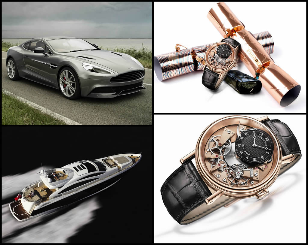 the worlds most expensive christmas crackers include a yacht an aston martin and cost 6 million
