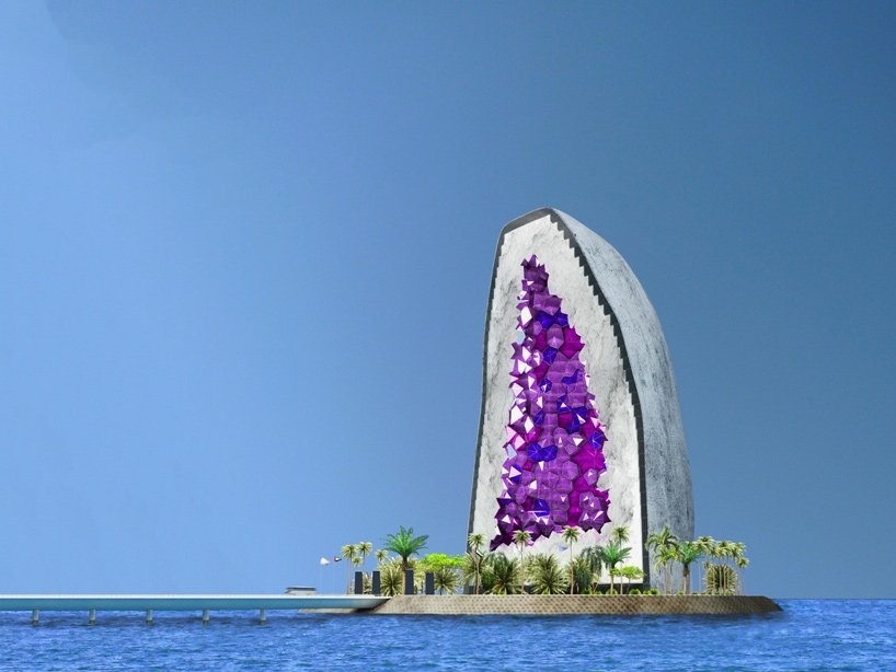 Shaped as a giant amethyst this could be the most unique for 10 unique hotels around the world