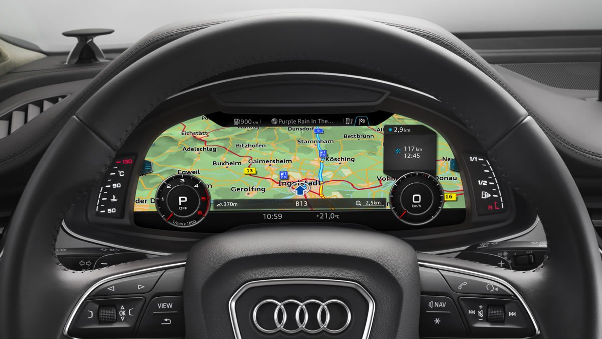 2016 audi q7 will arrive with a refined mmi virtual. Black Bedroom Furniture Sets. Home Design Ideas