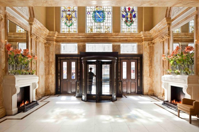 The Historic Entrance of Hotel Cafe Royal