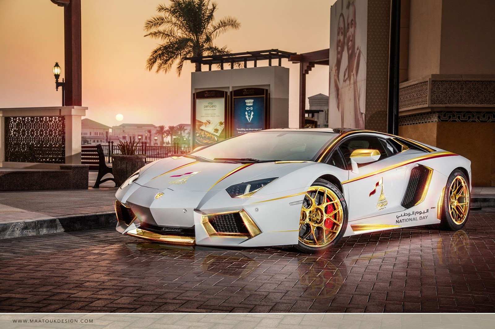 Meet the one,off gold plated Lamborghini Aventador Roadster