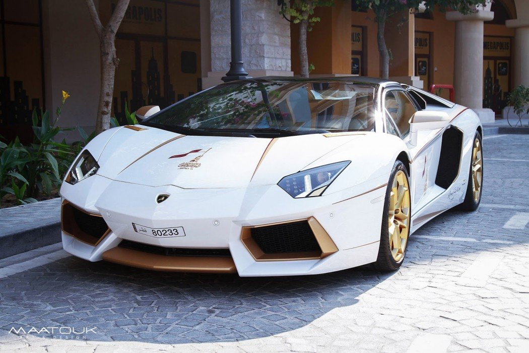 2019 Lamborghini Aventador >> Meet the one-off gold plated Lamborghini Aventador Roadster Qatar National Day Edition