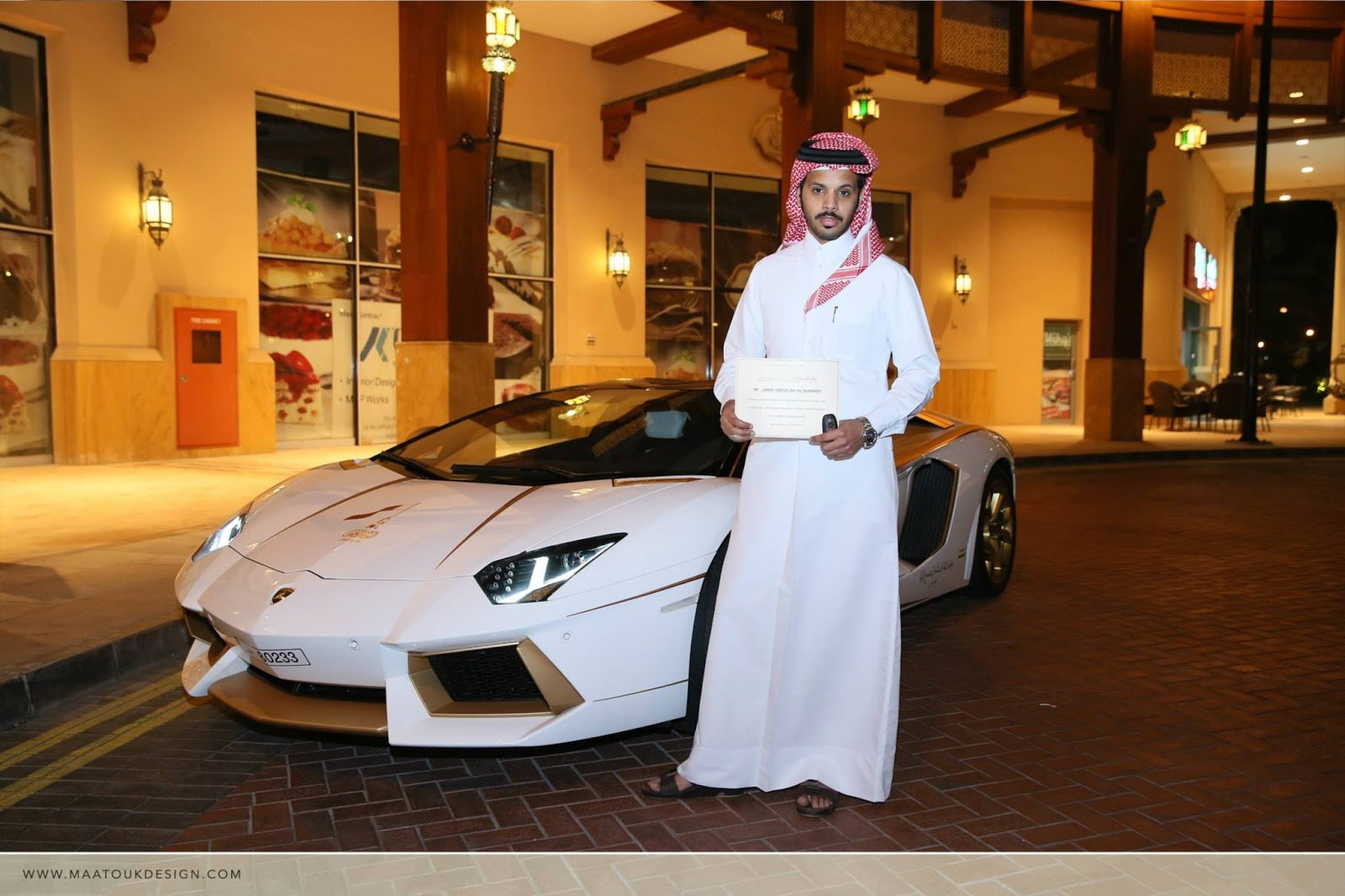 Meet The One Off Gold Plated Lamborghini Aventador Roadster Qatar