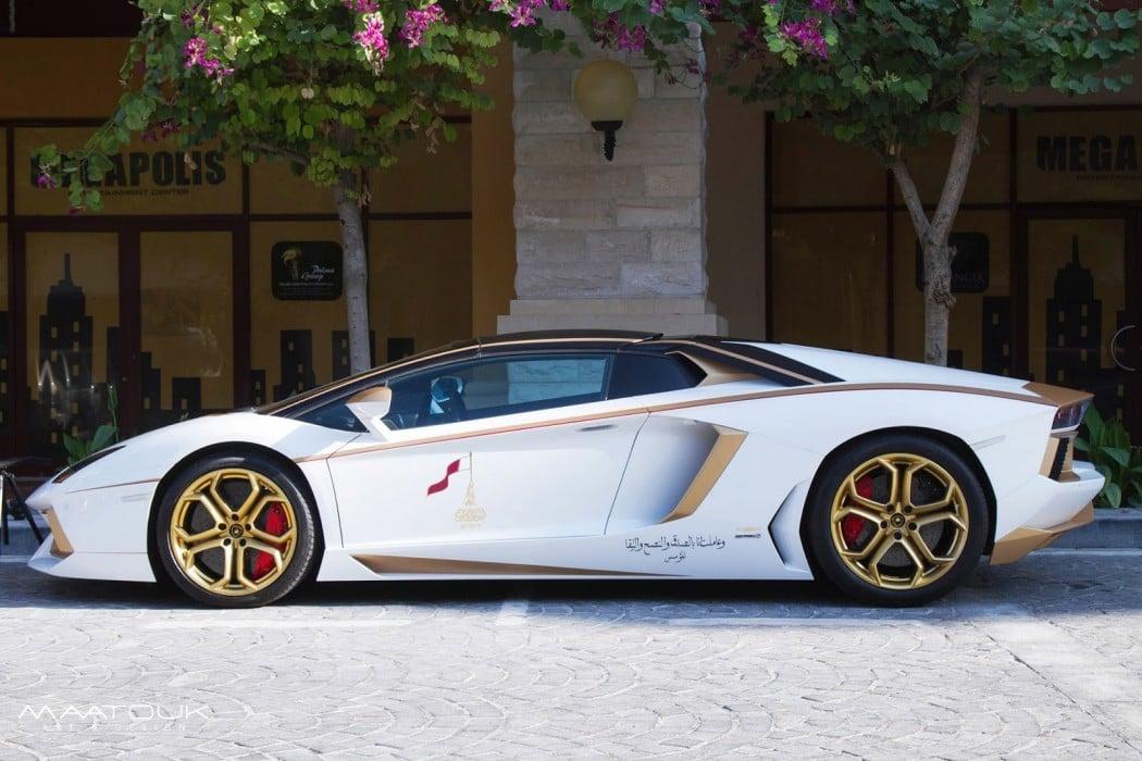 Meet The One Off Gold Plated Lamborghini Aventador