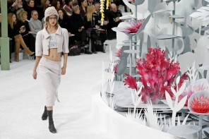Lagerfeld's garden themed show for Chanel Spring Couture 2015