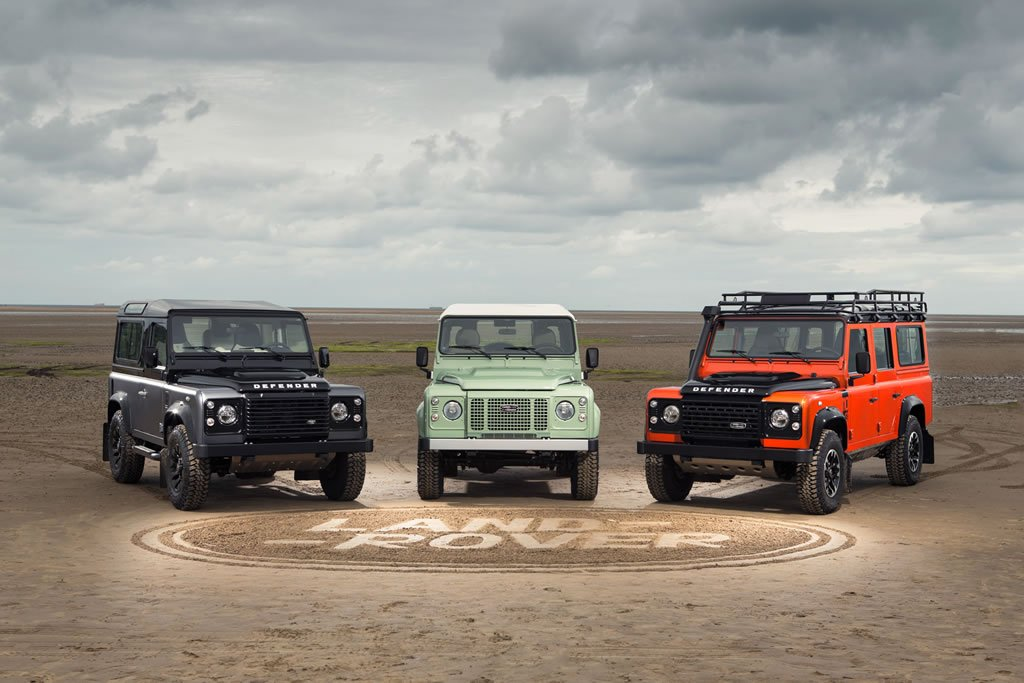 Three special edition Land Rover Defender variants mark the end of production -